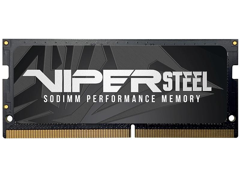 Фото - Модуль памяти Patriot Memory Viper Steel DDR4 SO-DIMM 2400MHz PC4-19200 CL15 - 8Gb PVS48G240C5S модуль памяти hynix ddr4 dimm 2400mhz pc4 19200 cl15 8gb hma81gu6afr8n uhn0