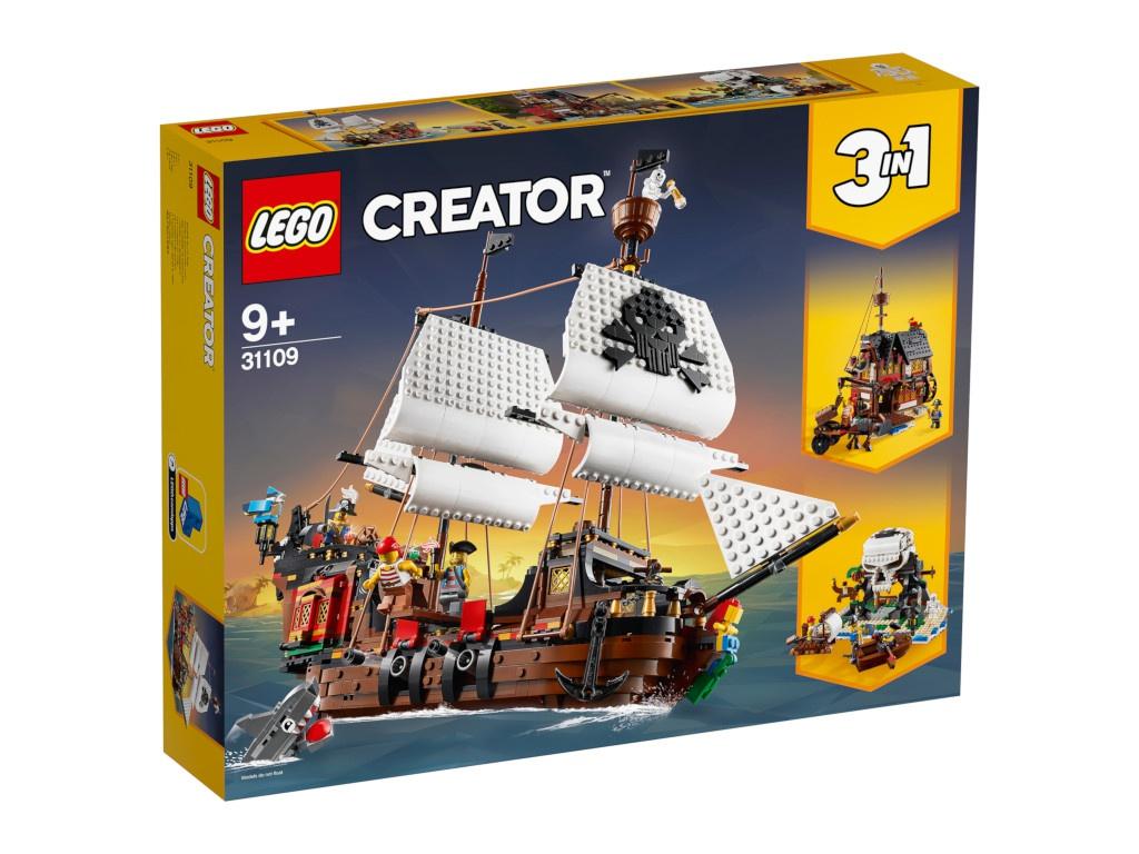 Конструктор Lego Creator Пиратский корабль 1260 дет. 31109