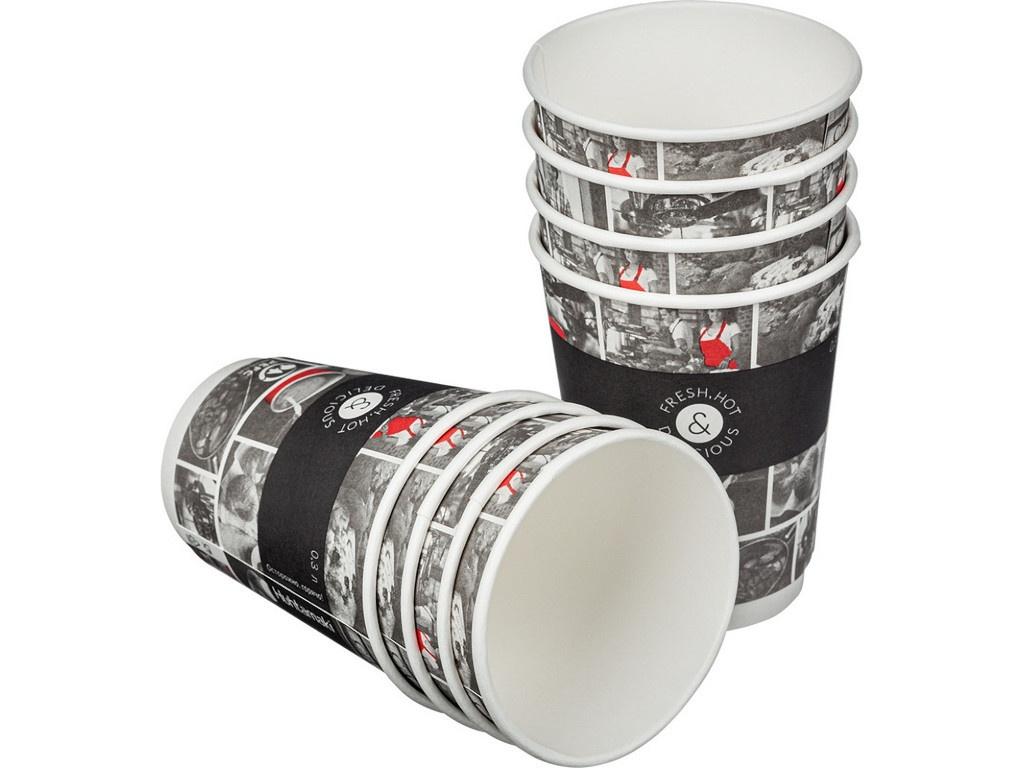 Одноразовые стаканы Huhtamaki Cafe Noir DW12 300ml 25шт