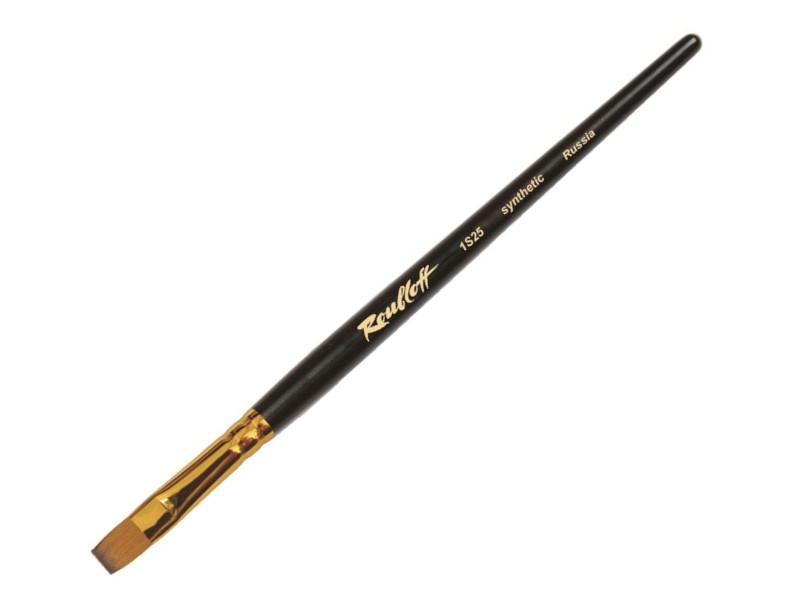 Кисть Roubloff Синтетика Плоская №8 Короткая ручка ЖS2-08,05Ж