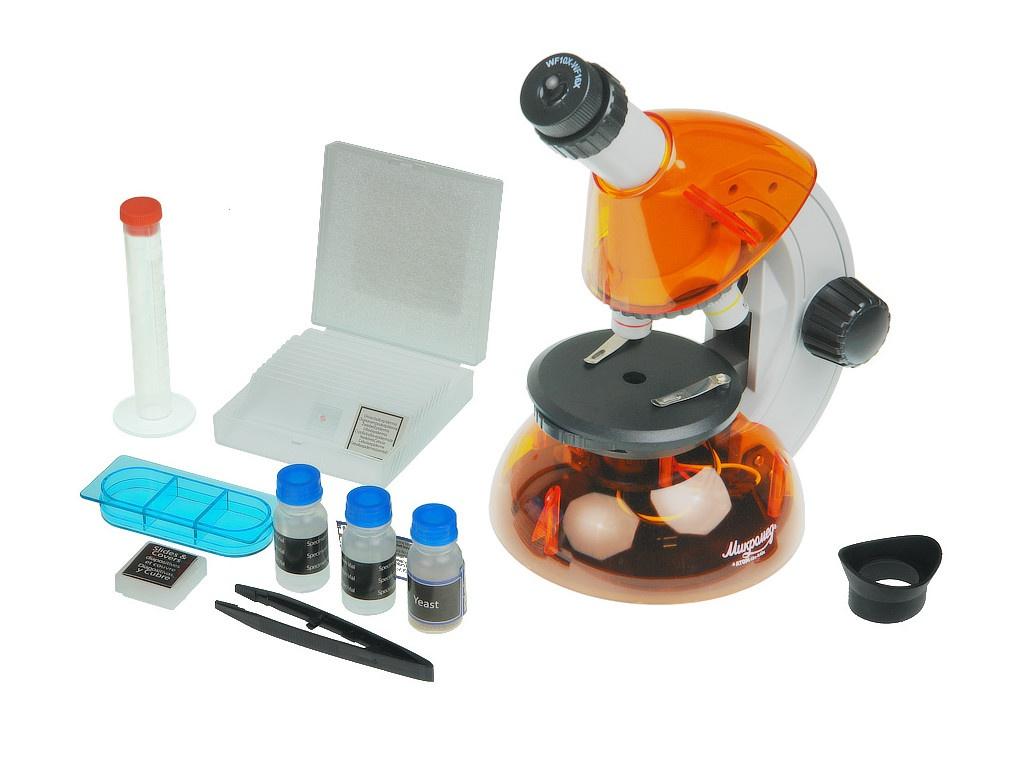 Фото - Микроскоп Микромед Атом 40x-640x Orange микроскоп микромед mp 450 21351