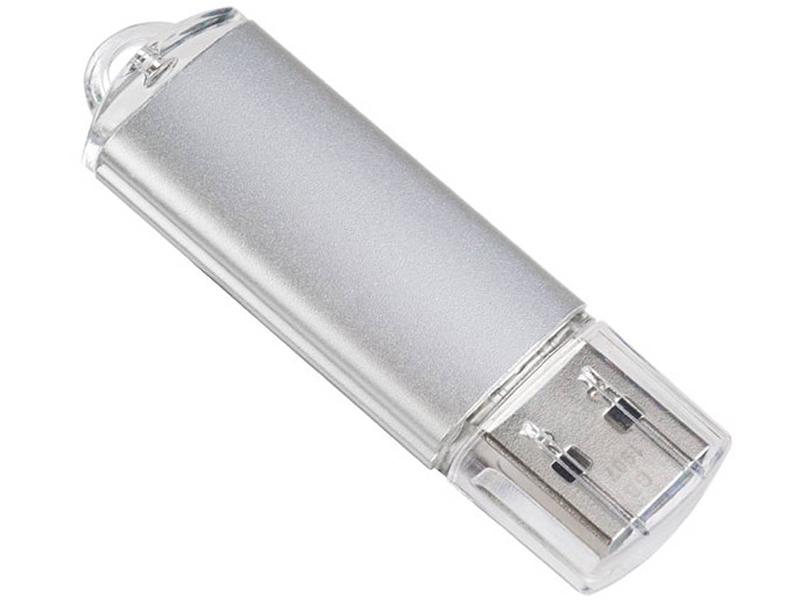 USB Flash Drive 64Gb - Perfeo E01 Silver Economy Series PF-E01S064ES usb flash drive 64gb perfeo usb 3 0 c08 black pf c08b064