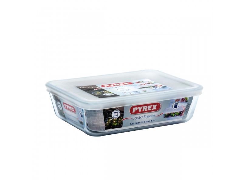 Контейнер с крышкой Pyrex Cook Freez 22x17x6cm 1.5L 242P000