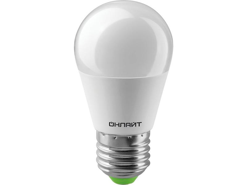 Лампочка ОнЛайт LED G45 E27 10W 230V 2700K OLL-G45-10-230-2.7K-E27-PROMO 82 912