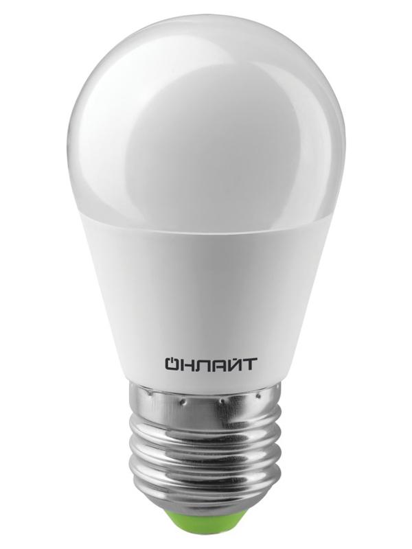 Лампочка ОнЛайт LED E27 10W 230V 2700K OLL-G45-10-230-2.7K-E27 61 968 / 82 912