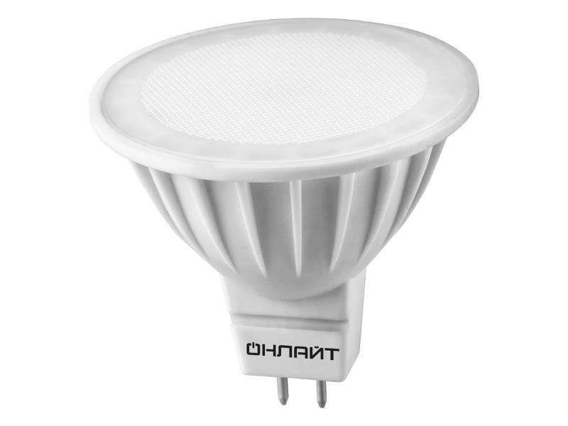 Лампочка ОнЛайт LED GU5.3 10W 220V 3000K OLL-MR16-10-230-3K-GU5.3 61 889