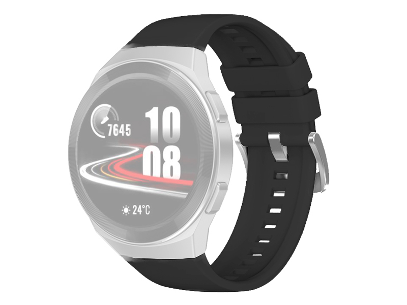 Аксессуар Ремешок DF для Huawei Watch GT 2e Hector Black hwClassicband-03 умные часы huawei watch gt 2e hector b19c mint