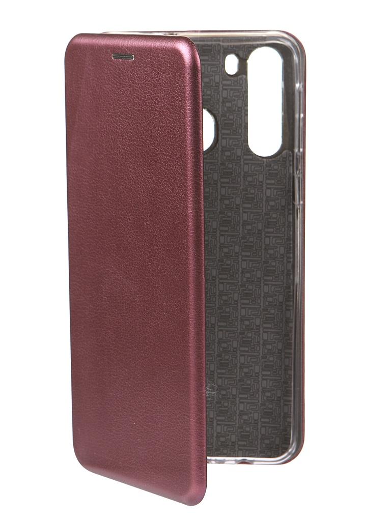 Чехол Innovation для Samsung Galaxy A21 Book Burgundy 17056