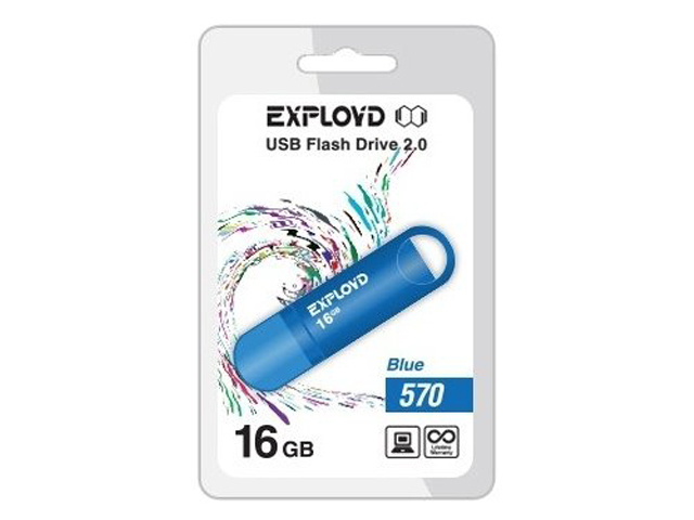 Фото - USB Flash Drive EXPLOYD 570 16GB Blue снуд button blue button blue bu019ggcrrq1