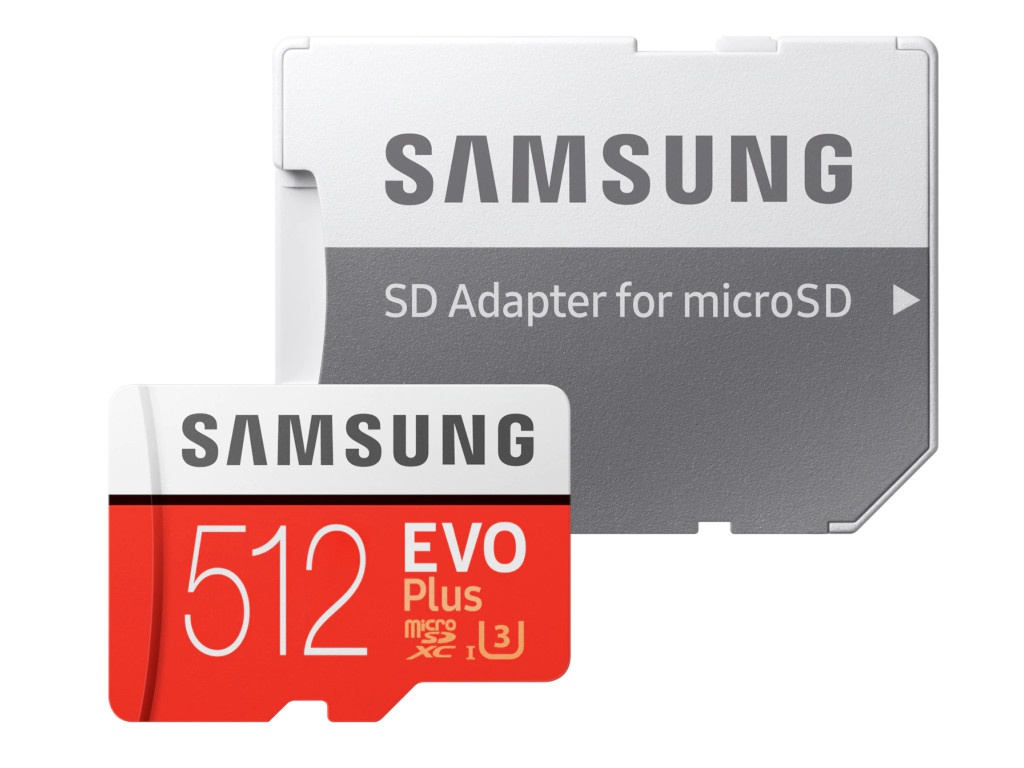 Фото - Карта памяти 512Gb - Samsung Micro Secure Digital XC EVO Plus Class10 MB-MC512HA/RU с переходником под SD ru