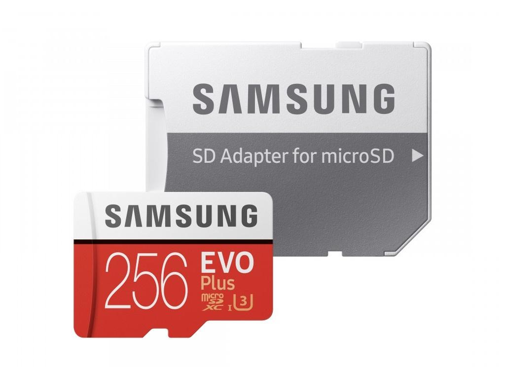 Фото - Карта памяти 256Gb - Samsung Micro Secure Digital XC EVO Plus Class10 MB-MC256HA/RU с переходником под SD ru