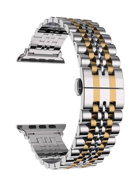 Аксессуар Ремешок Lyambda для APPLE Watch 38/40mm Castor Silver-Gold DS-APG-04-40-SG