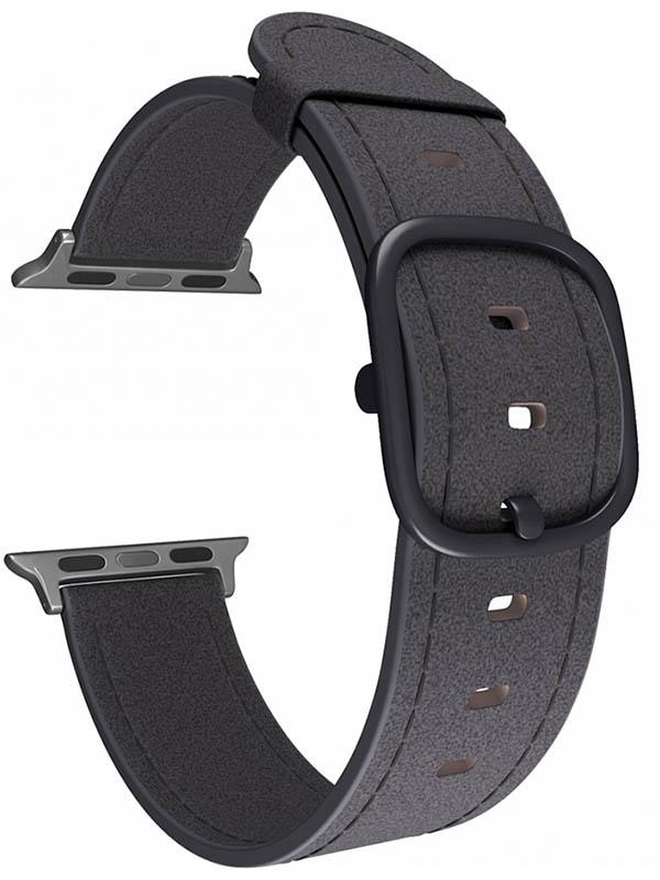 Аксессуар Ремешок Lyambda Leather для APPLE Watch 38/40mm Minkar Black DSP-03-40