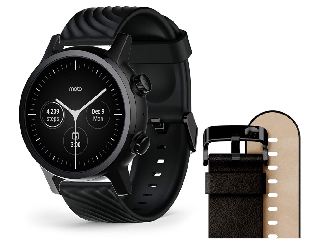 Умные часы Motorola Moto 360 3rd Gen Stainless Steel Phantom Black M360FS19PB