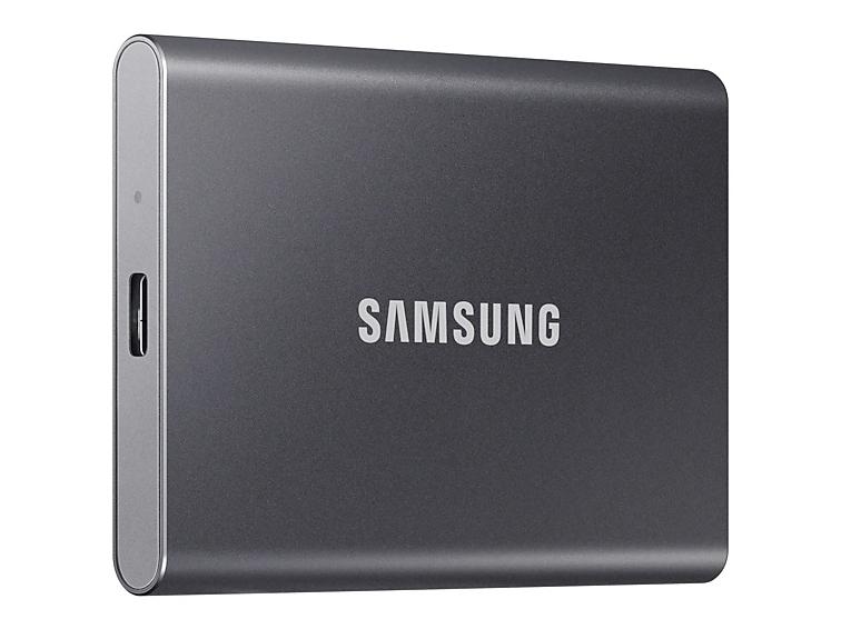 Фото - Твердотельный накопитель Samsung Portable T7 500Gb Grey MU-PC500T/WW blackhead zit acne portable pore cleanser