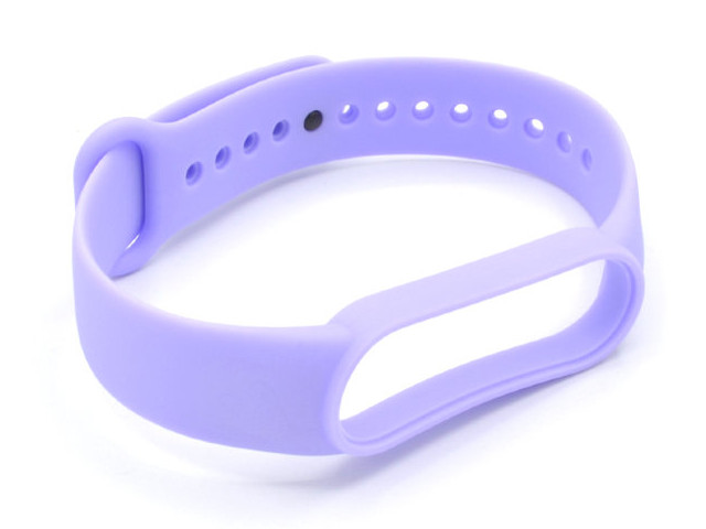 Aксессуар Ремешок Innovation для Mi Band 5 Silicone Purple 17855