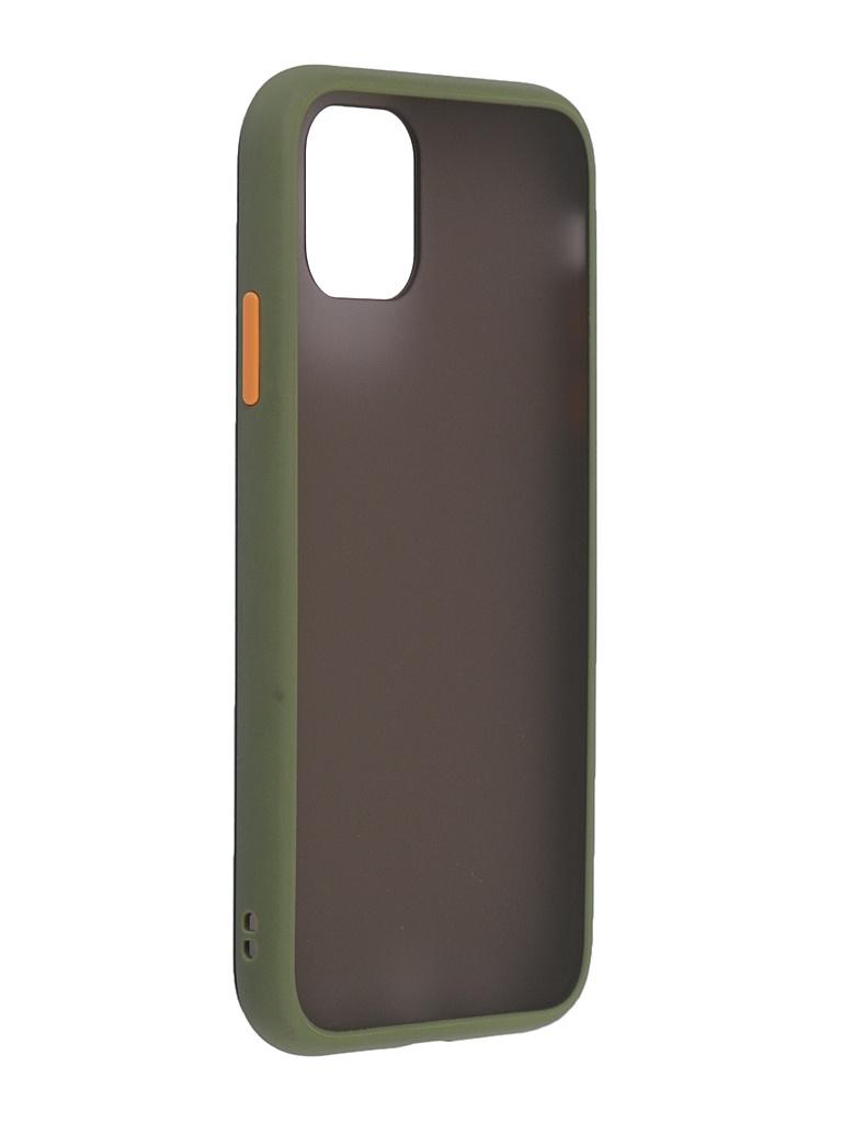 Чехол Brosco для APPLE iPhone 11 Khaki-Orange IP11-ST-TPU-GREEN-ORANGE