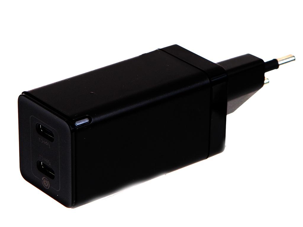 Фото - Зарядное устройство Baseus GaN2 Quick Charger C+C 45W EU Black CCGAN-M01 зарядное устройство baseus compact quick charger u c 20w eu black ccxj b01