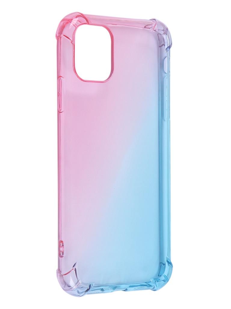 Чехол Brosco для APPLE iPhone 11 TPU Pink-Blue IP11-HARD-TPU-PINK-BLUE
