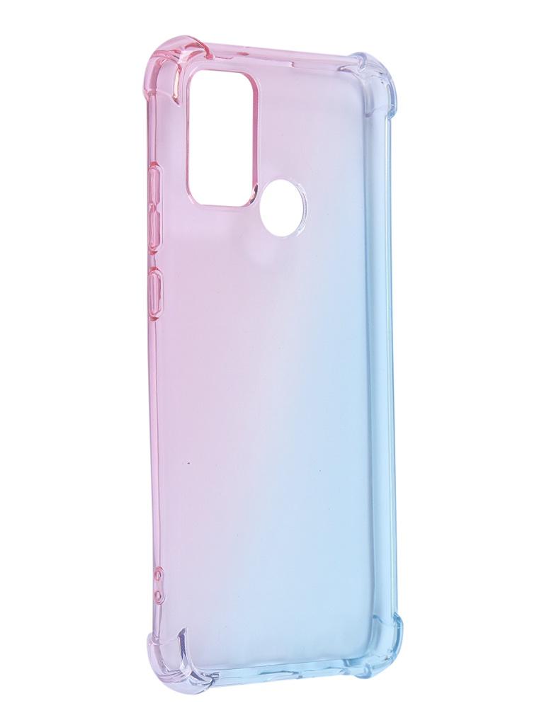 Чехол Brosco для Samsung Galaxy A51 TPU Pink-Blue SS-A51-HARD-TPU-PINK-BLUE