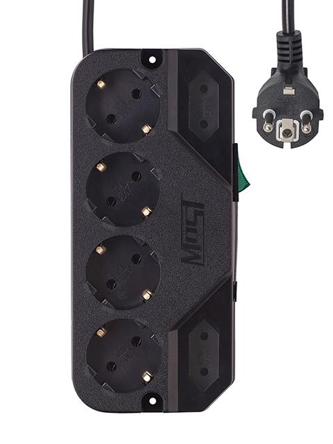 Сетевой фильтр Most CRG 6 Sockets 2m Black
