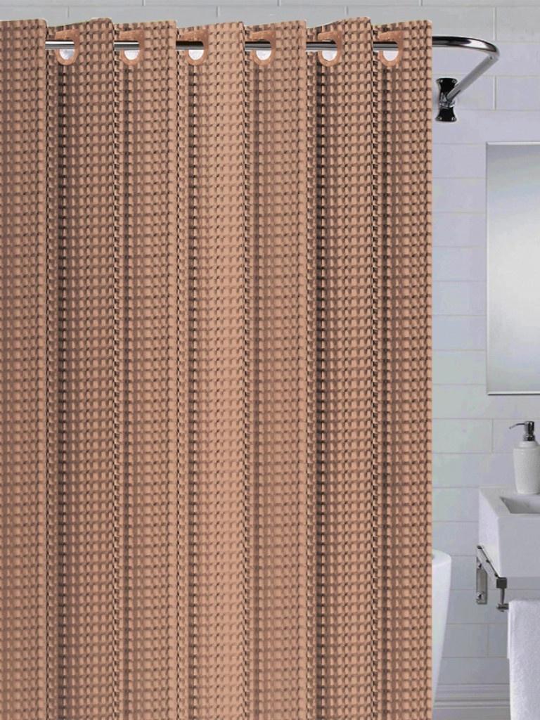 Шторка Bath Plus 3D 180x200cm Brown NFD-3D-brown