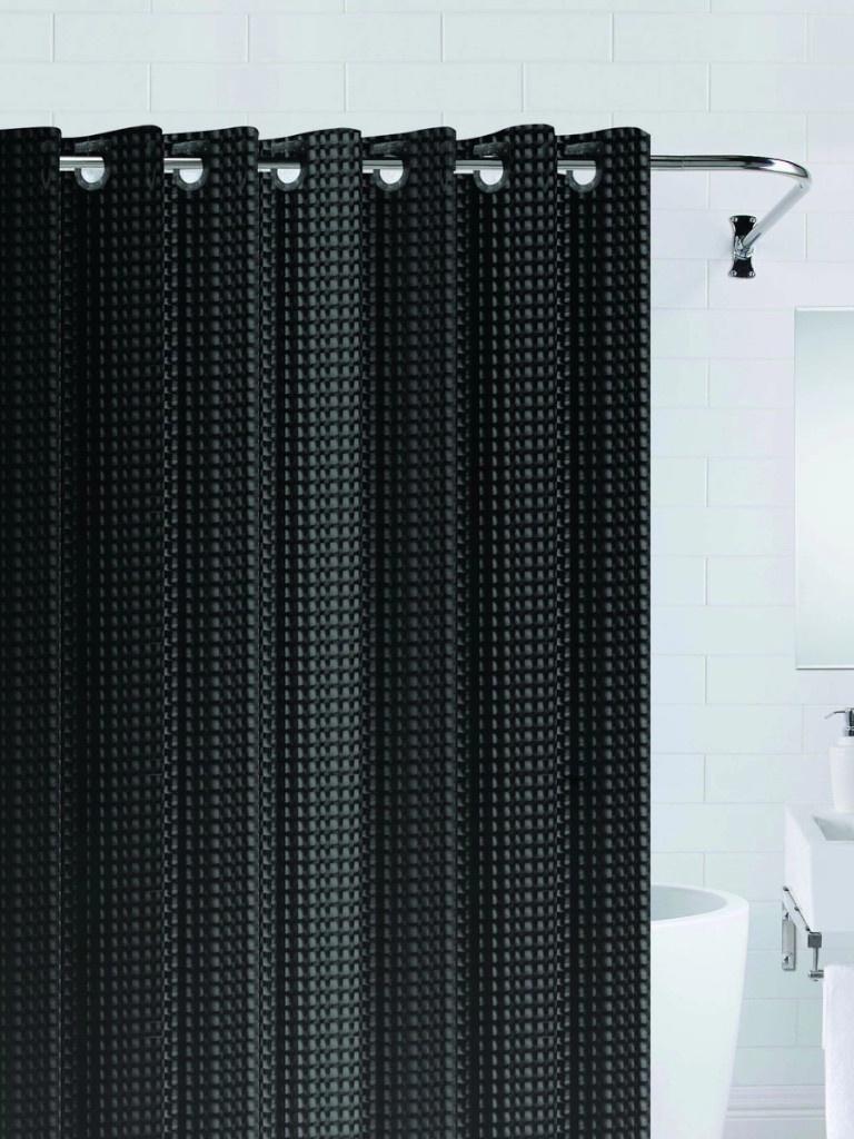 Шторка Bath Plus 3D 180x200cm Black NFD-3D-black