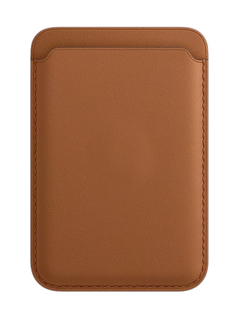 Чехол-бумажник APPLE iPhone Leather Wallet with MagSafe Saddle Brown MHLR3ZE/A