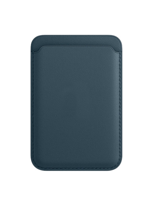 Чехол-бумажник APPLE iPhone Leather Wallet with MagSafe Baltic Blue MHLQ3ZE/A