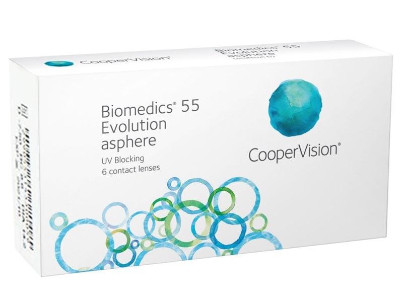Контактные линзы CooperVision Biomedics 55 Evolution UV (6 линз / 8.6 / -1)