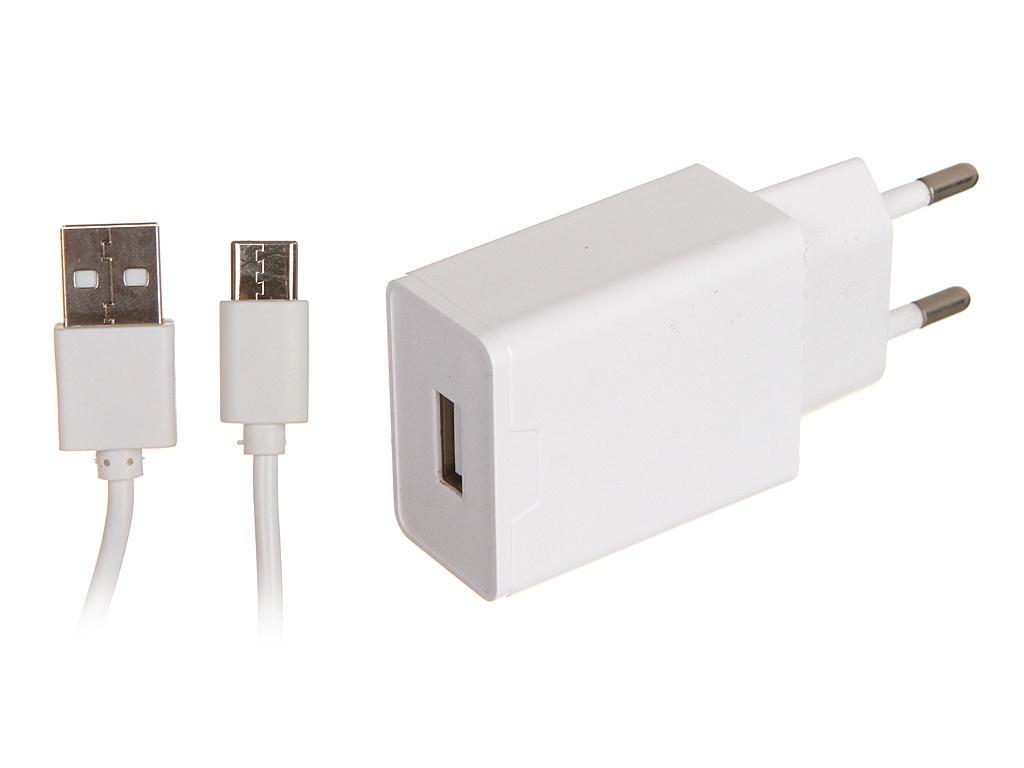 Зарядное устройство Maimi T7 1xUSB 2400mAh 5V + Cable USB Type-C White
