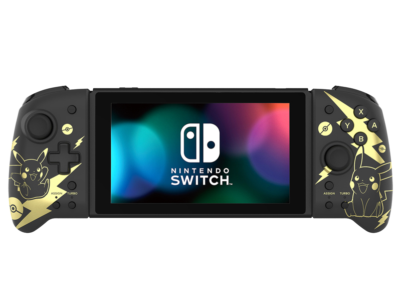 Контроллер Hori Switch Split Pad Pro Pikachu Black-Gold NSW-295U для Nintendo Switch