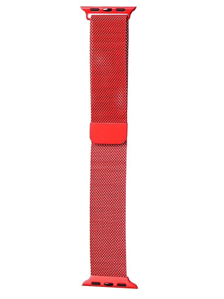 Аксессуар Ремешок Bruno для APPLE Watch 38/40mm Milano Red 1032 аксессуар ремешок bruno для apple watch 38 40mm milano black red b20527