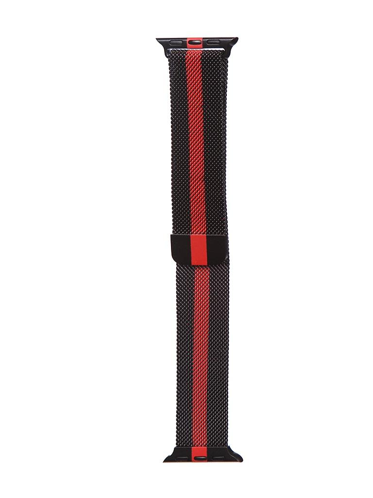 Аксессуар Ремешок Bruno для APPLE Watch 38/40mm Milano Black-Red b20527 аксессуар ремешок bruno для apple watch 38 40mm milano black red b20527