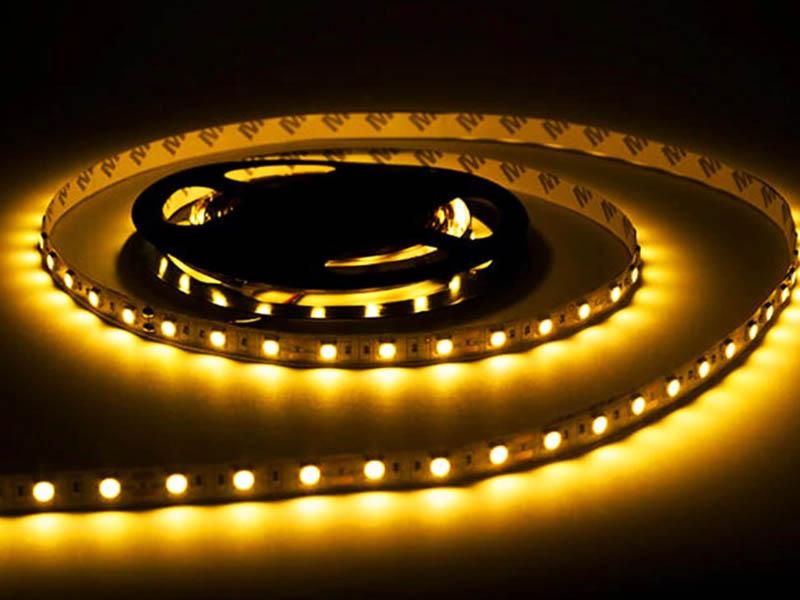 Светодиодная лента URM SMD 5050 60 LED 12V 14.4W 1200Lm 3000K IP20 5m с диммером Warm White N01024