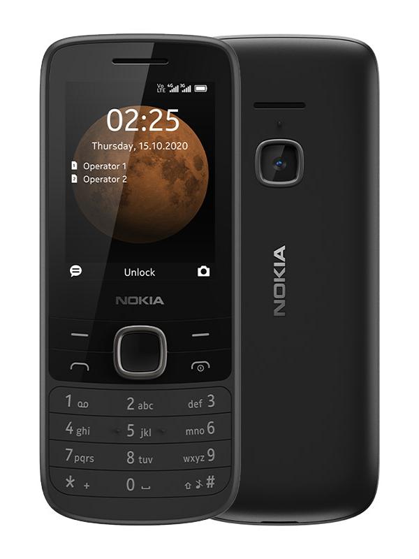Сотовый телефон Nokia 225 4G Dual Sim Black кнопочный телефон nokia 225 4g sand
