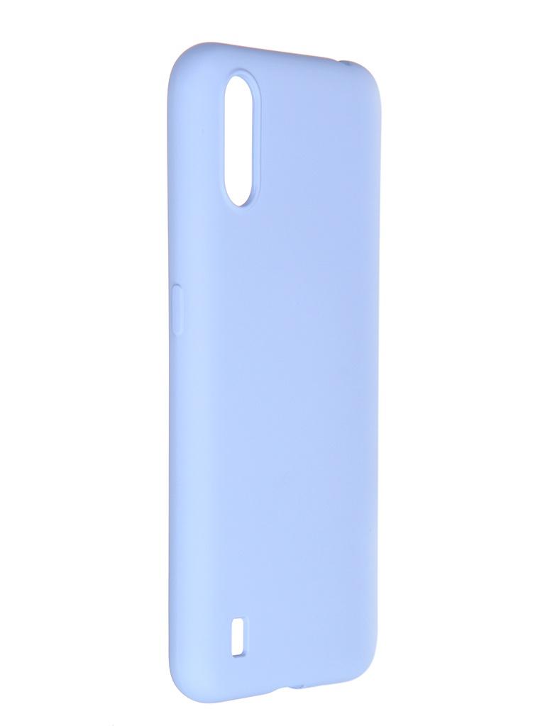 Чехол Pero для Samsung Galaxy A01 Liquid Silicone Light Blue PCLS-0012-LB