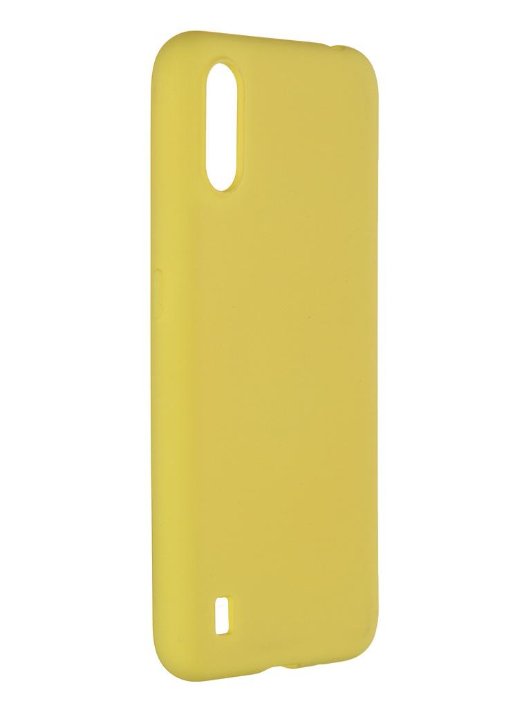Фото - Чехол Pero для Samsung Galaxy A01 Liquid Silicone Yellow PCLS-0012-YW чехол pero для samsung s21 plus liquid silicone yellow pcls 0039 yw