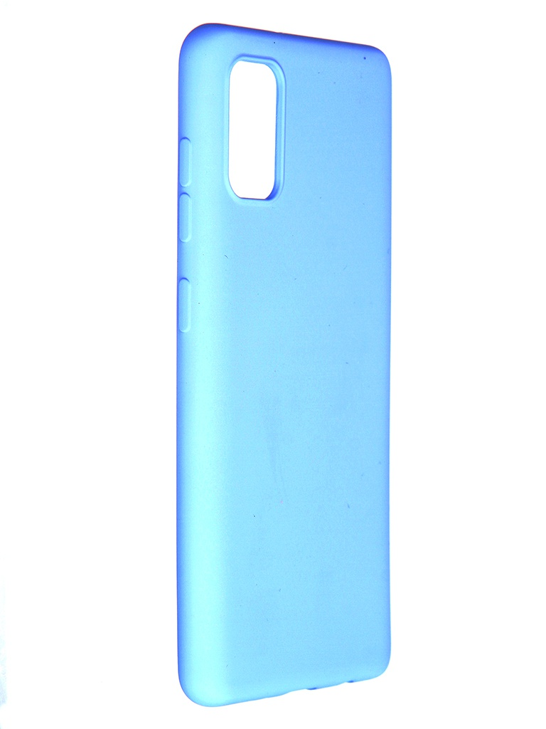 Чехол Pero для Samsung Galaxy A41 Liquid Silicone Light-Blue PCLS-0008-LB