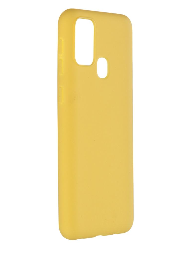 Фото - Чехол Pero для Samsung Galaxy M31 Liquid Silicone Yellow PCLS-0017-YW чехол pero для samsung s21 plus liquid silicone yellow pcls 0039 yw