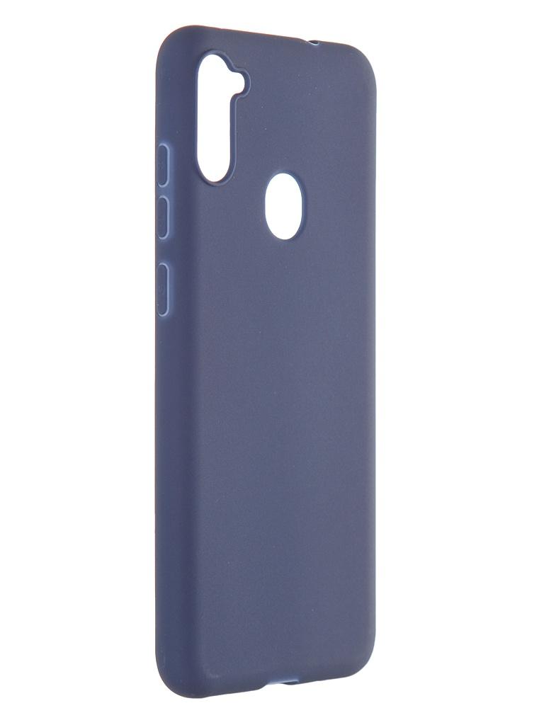 Чехол Pero для Samsung Galaxy A11 / M11 Soft Touch Blue CC01-A11BL