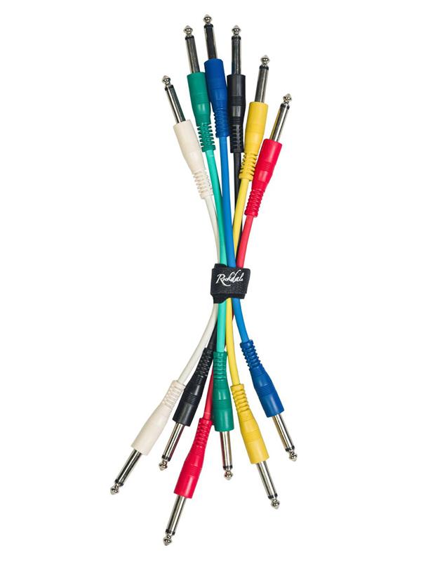 Комплект патч-кабелей для соединения педалей Rockdale Mono jack (TS) male 20cm IC016-20CM
