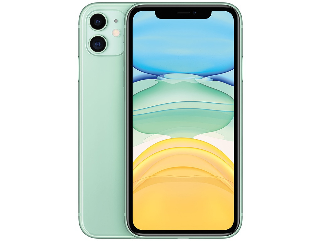 Фото - Сотовый телефон APPLE iPhone 11 - 64Gb Green новая комплектация MHDG3RU/A телефон apple iphone 12 64gb green mgj93ru a