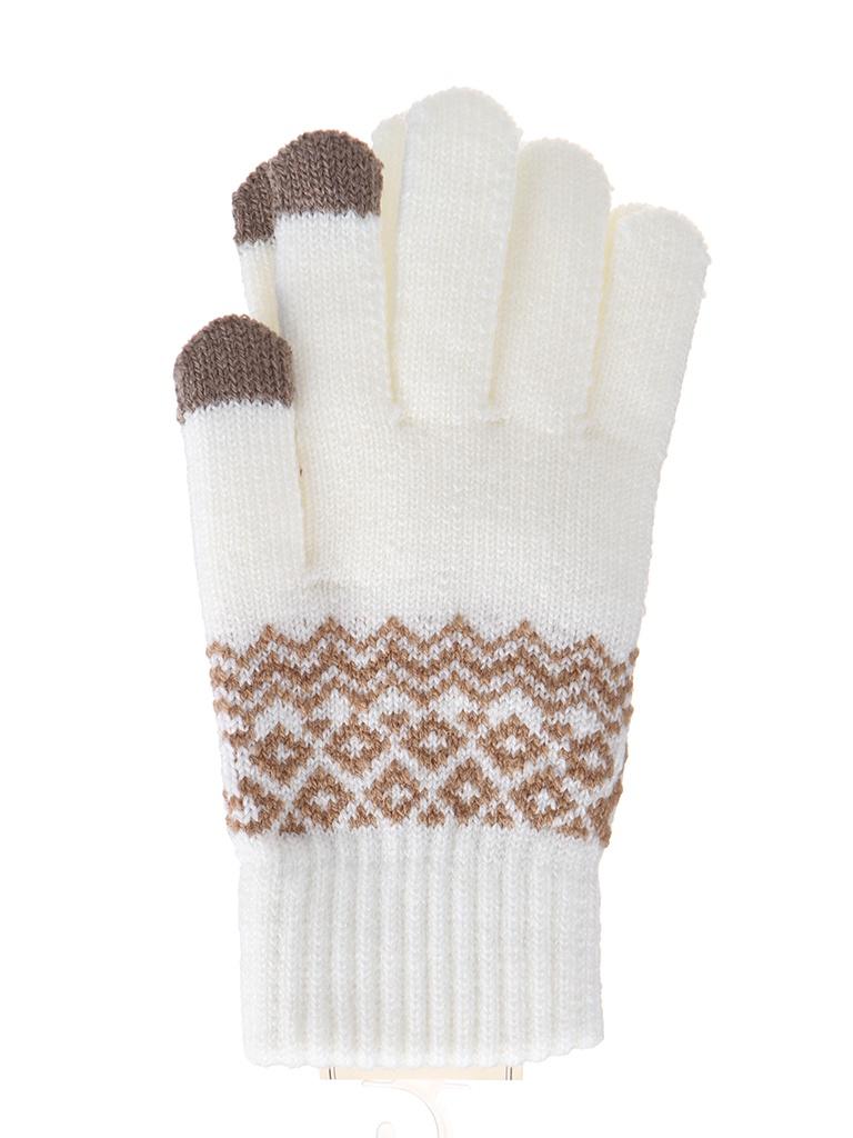 Теплые перчатки для сенсорных дисплеев Activ Fashion White 123216