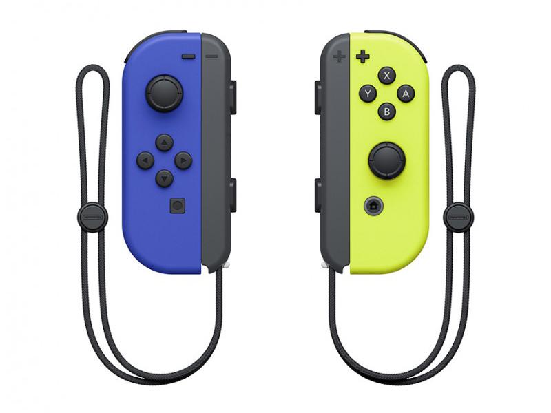 Контроллер Nintendo Joy-Con Blue / Neon Yellow ACSWT35