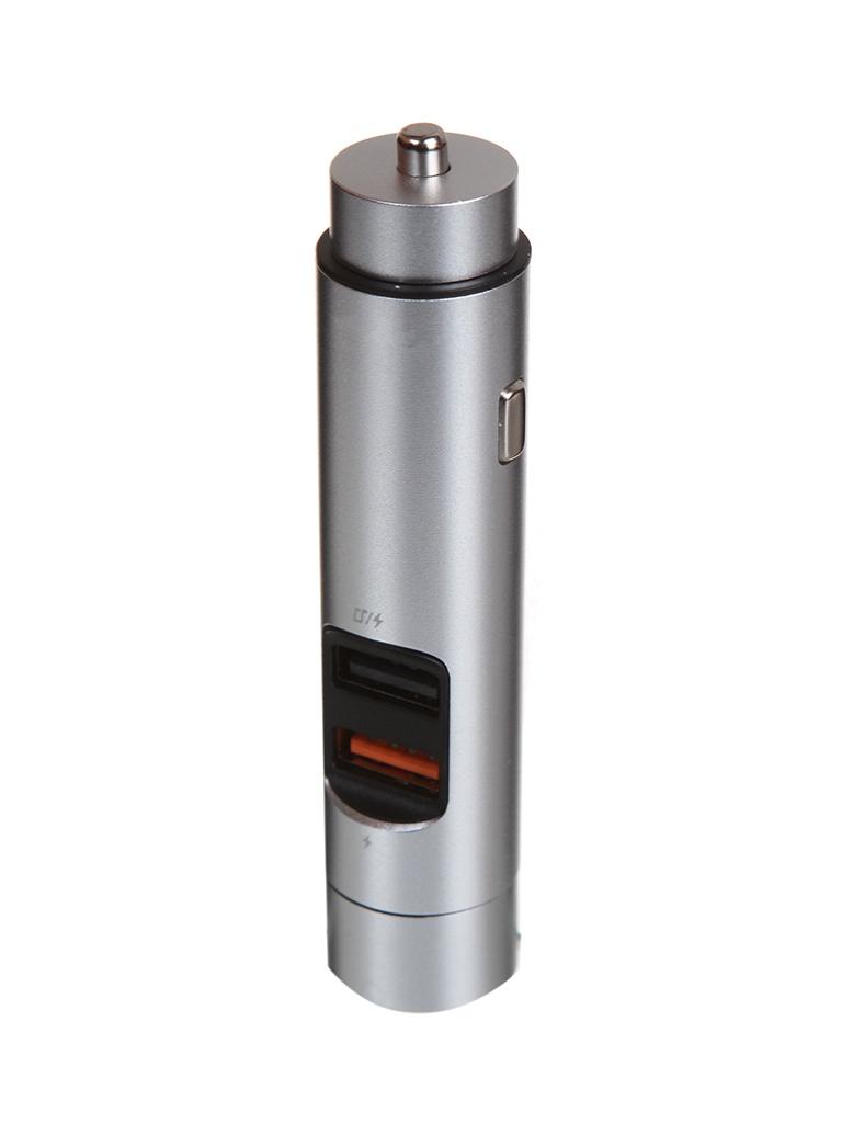 Зарядное устройство Baseus Energy Column Car Wireless MP3 Charger Silver CCNLZ-B0S