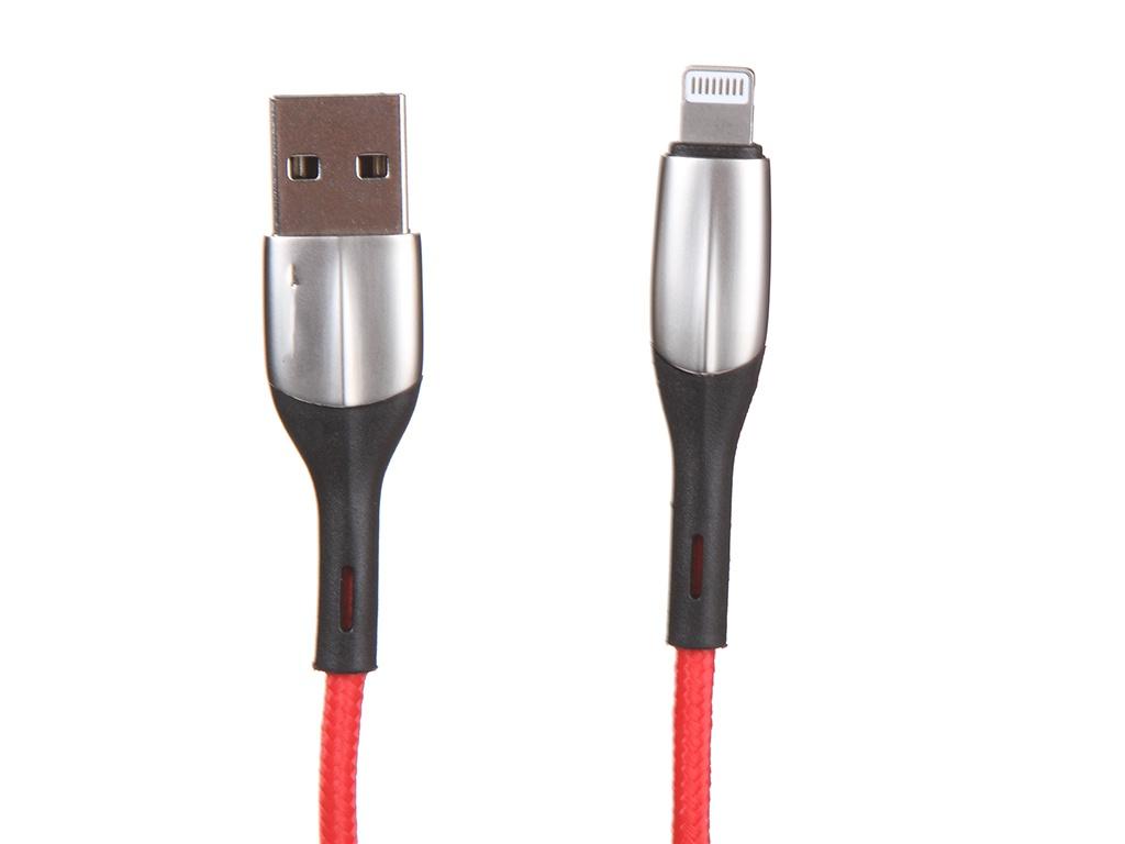 Фото - Аксессуар Baseus Horizontal USB - Lightning 2m Red CALSP-C09 аксессуар baseus glowing usb lightning blaсk callg 01