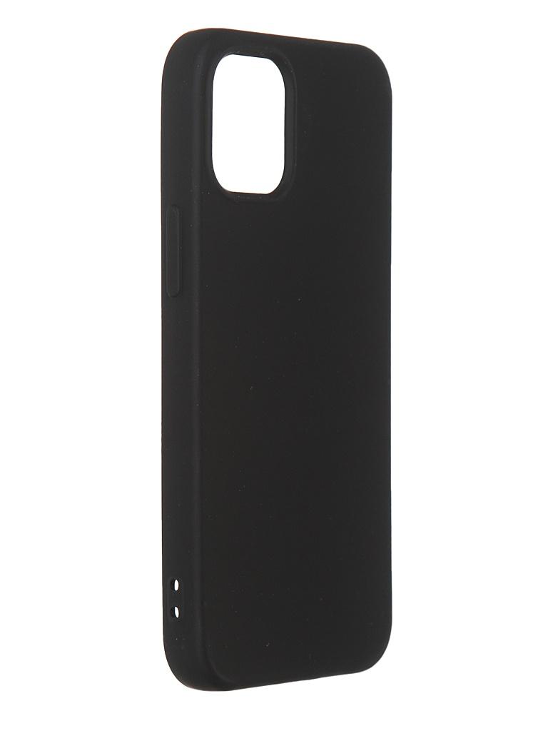 Чехол DF для iPhone 12 mini с микрофиброй Silicone Black iOriginal-04 чехол df для iphone 12 12 pro с микрофиброй silicone red ioriginal 05