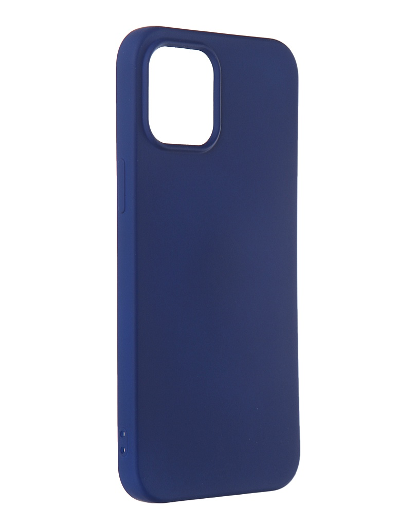 Чехол DF для iPhone 12 Pro Max с микрофиброй Silicone Blue iOriginal-06 чехол df для iphone 12 12 pro с микрофиброй silicone red ioriginal 05