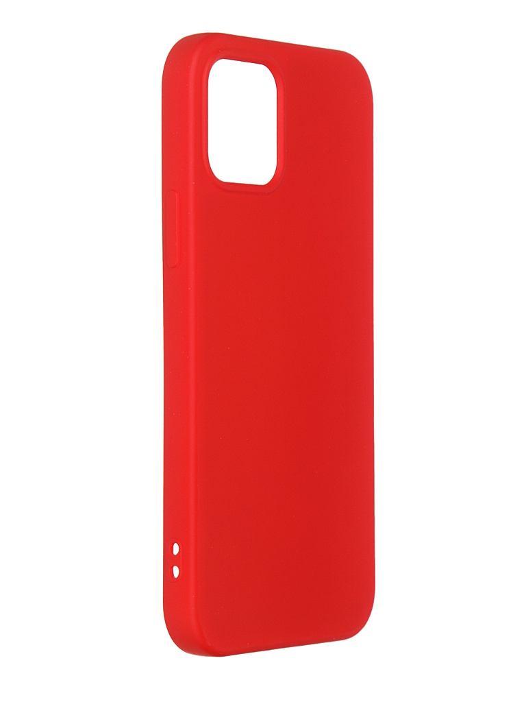 Чехол DF для iPhone 12 / 12 Pro с микрофиброй Silicone Red iOriginal-05 чехол df для iphone 12 12 pro с микрофиброй silicone red ioriginal 05